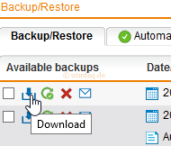 Sophpos UTM Backup Download